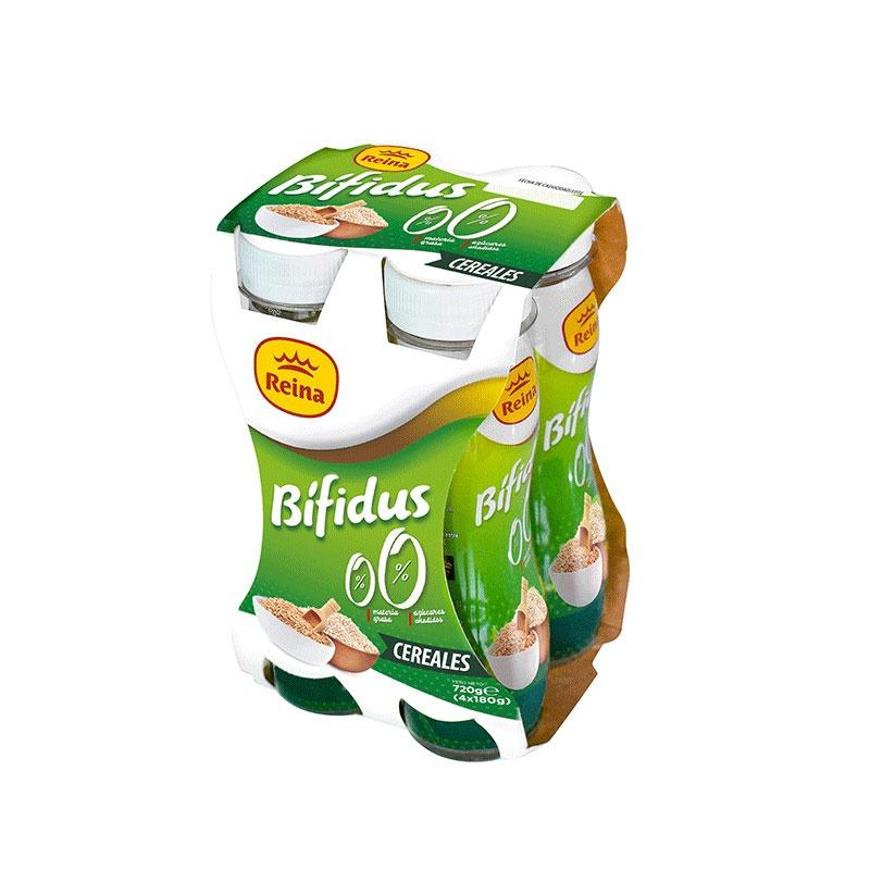 Yogur bebible bífidus cereales 0% materia grasa y azúcares añadidos 600g -Postres y Yogur Reina