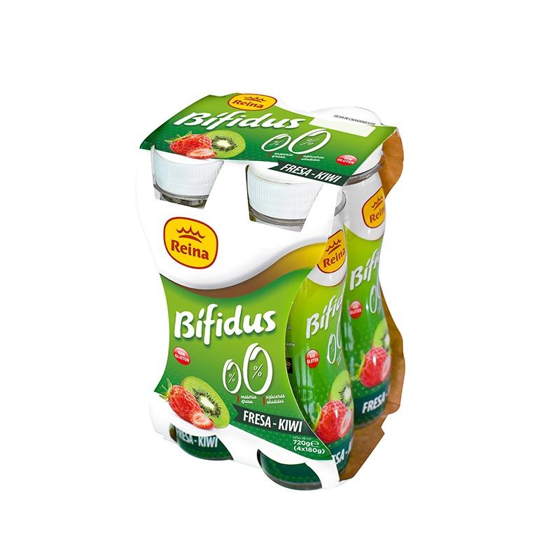Yogur bebible bífidus fresa y kiwi 4x180g -Postres y Yogur Reina