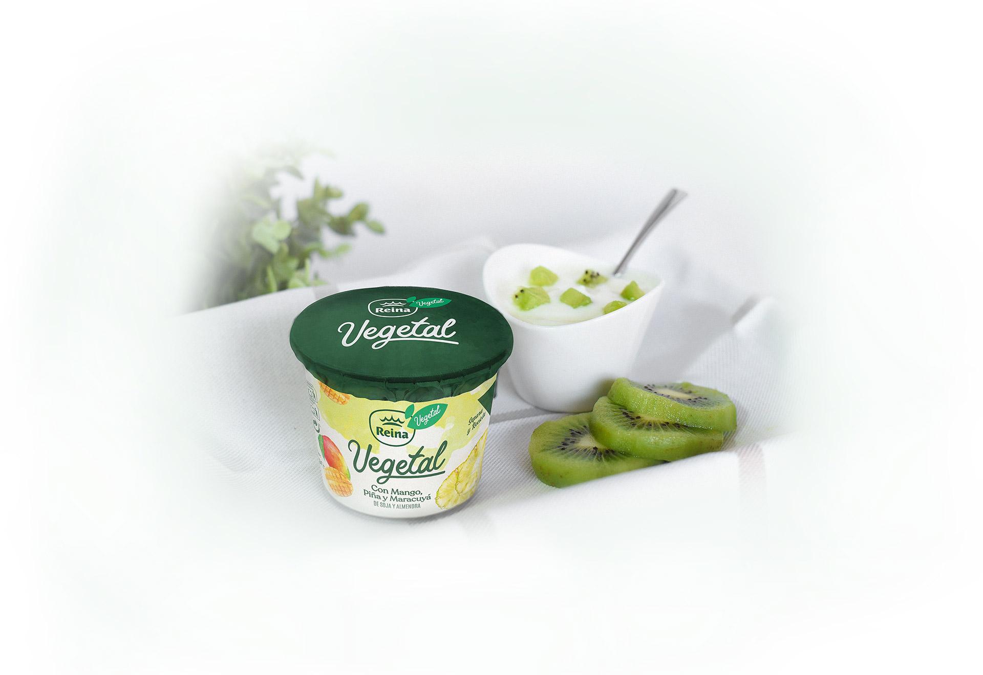 Yogur vegetal con kiwi