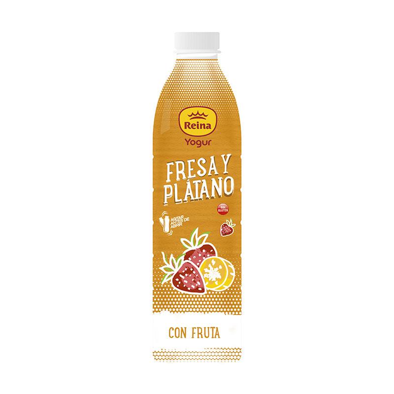 Yogurt bebible de Fresa y plátano 1.5l-Postres y Yogur Reina