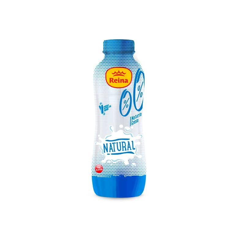 Yogur bebible natural 0% materia Grasa y azúcar -Postres y Yogur Reina